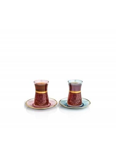 Decoristan Rumi Çay Seti 4'lü Renkli